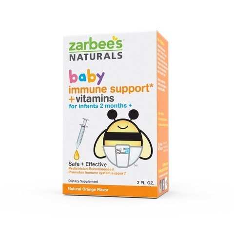 Zarbee's, Baby, Поддержка иммунитета + Vвитамины, натуральный апельсиновый вкус, 59мл