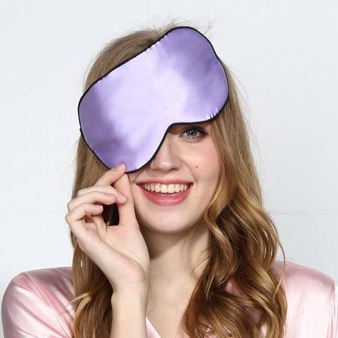 Шелковая маска для сна розовая