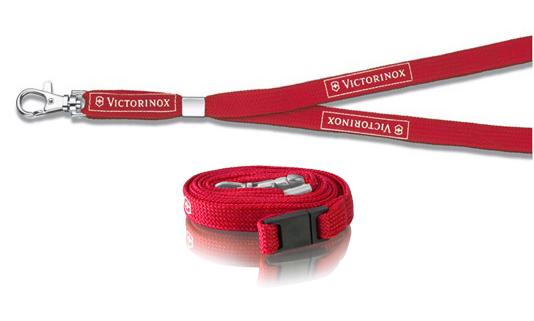 Нашейный шнурок Victorinox с карабином (4.1879) цвет красный - Wenger-Victorinox.Ru