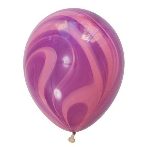 Шары супер агат, розово-фиолетовый, 30 см