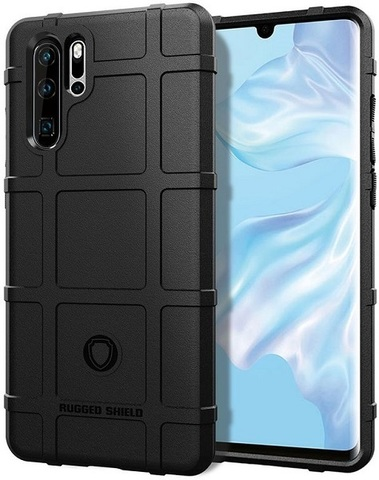 Чехол Carbon для Huawei P30 Pro серия Армор | черный