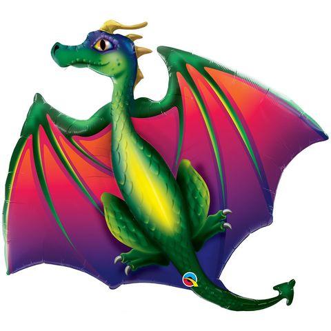 Воздушный шар фигура Дракон летящий, 114 см