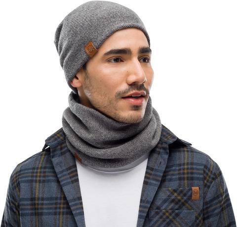 Комплект шапка шарф вязаные Buff Colt Grey Pewter фото 1