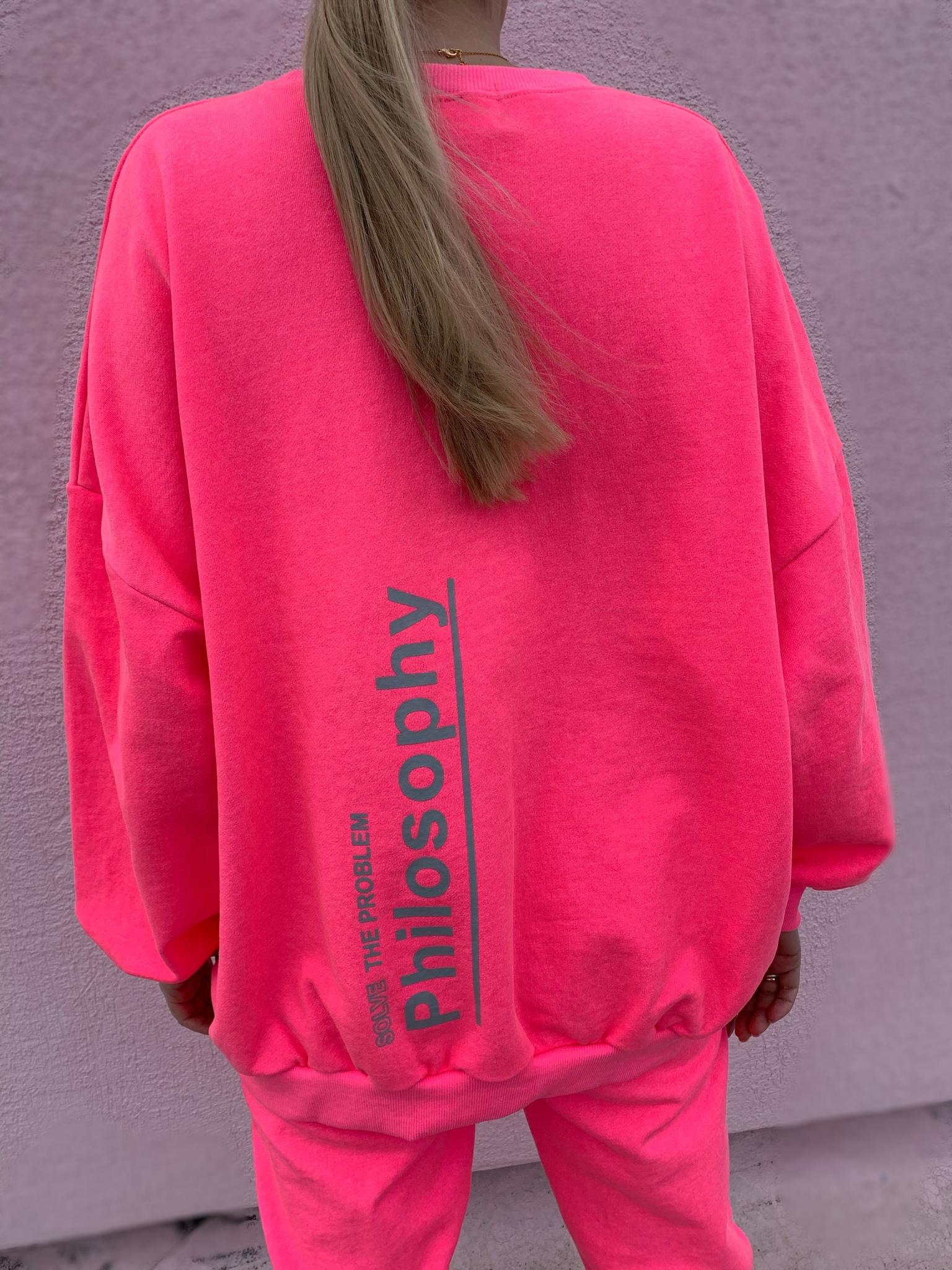 Костюм свитшот  и брюки PHILOSOPHY, розовый неон