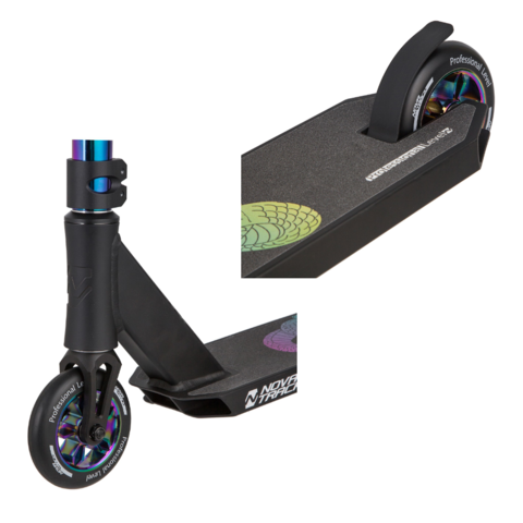 Трюковой самокат Novatrack Replay Pro Neo-chrome