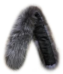 Опушка меховая на капюшон из натурального меха лисы 70 см.