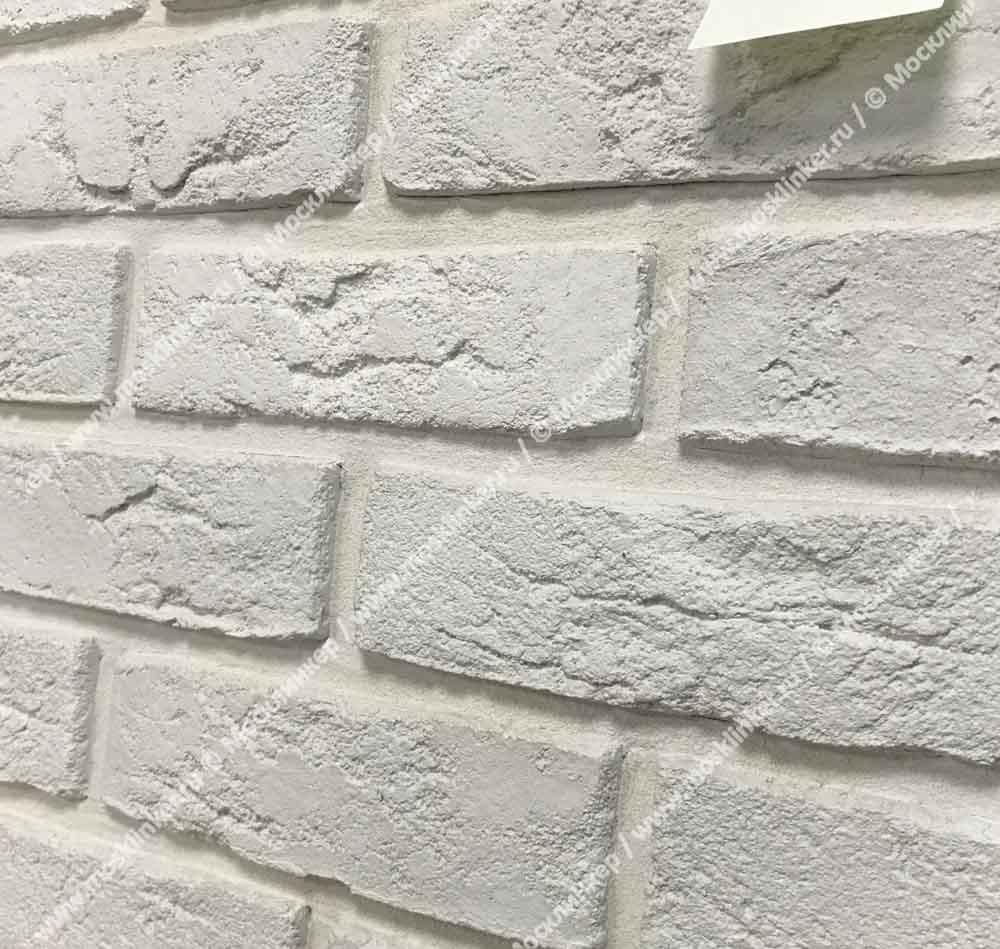 Клинкервиль 903, цвет белый - Искусственная плитка под покраску для имитации кирпичной кладки