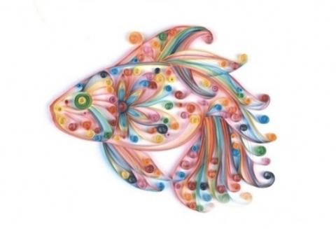 Квиллинг Волшебная рыбка/М-8011