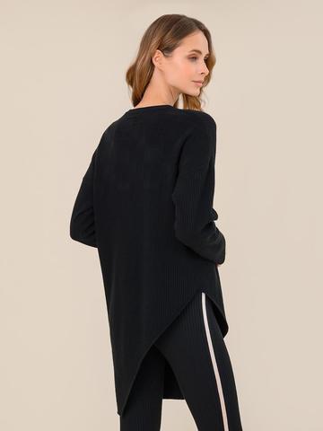 Женский джемпер черного цвета из шерсти и кашемира - фото 4