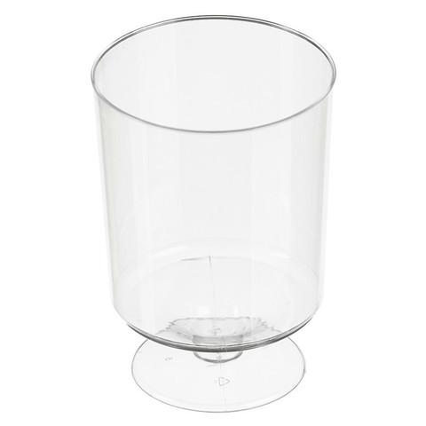 Бокал одноразовый для вина Стандарт пластиковый прозрачный 200 мл 6 штук в упаковке