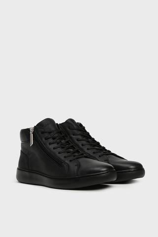 Мужские черные кожаные хайтопы FRANSISCO Calvin Klein