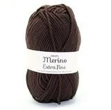 Пряжа Drops Merino Extra Fine 09 темно-коричневый