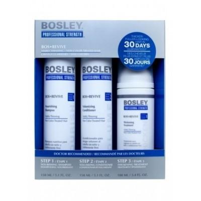 Bosley PRO Revive Синяя линия: Система для истонченных/неокрашенных волос (Pack for Non Color-Treated), 150мл+ 150мл+ 100мл
