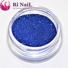 Дизайн для ногтей синий.