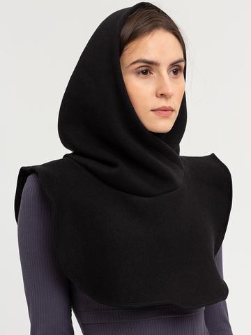 Капор-капюшон черного цвета