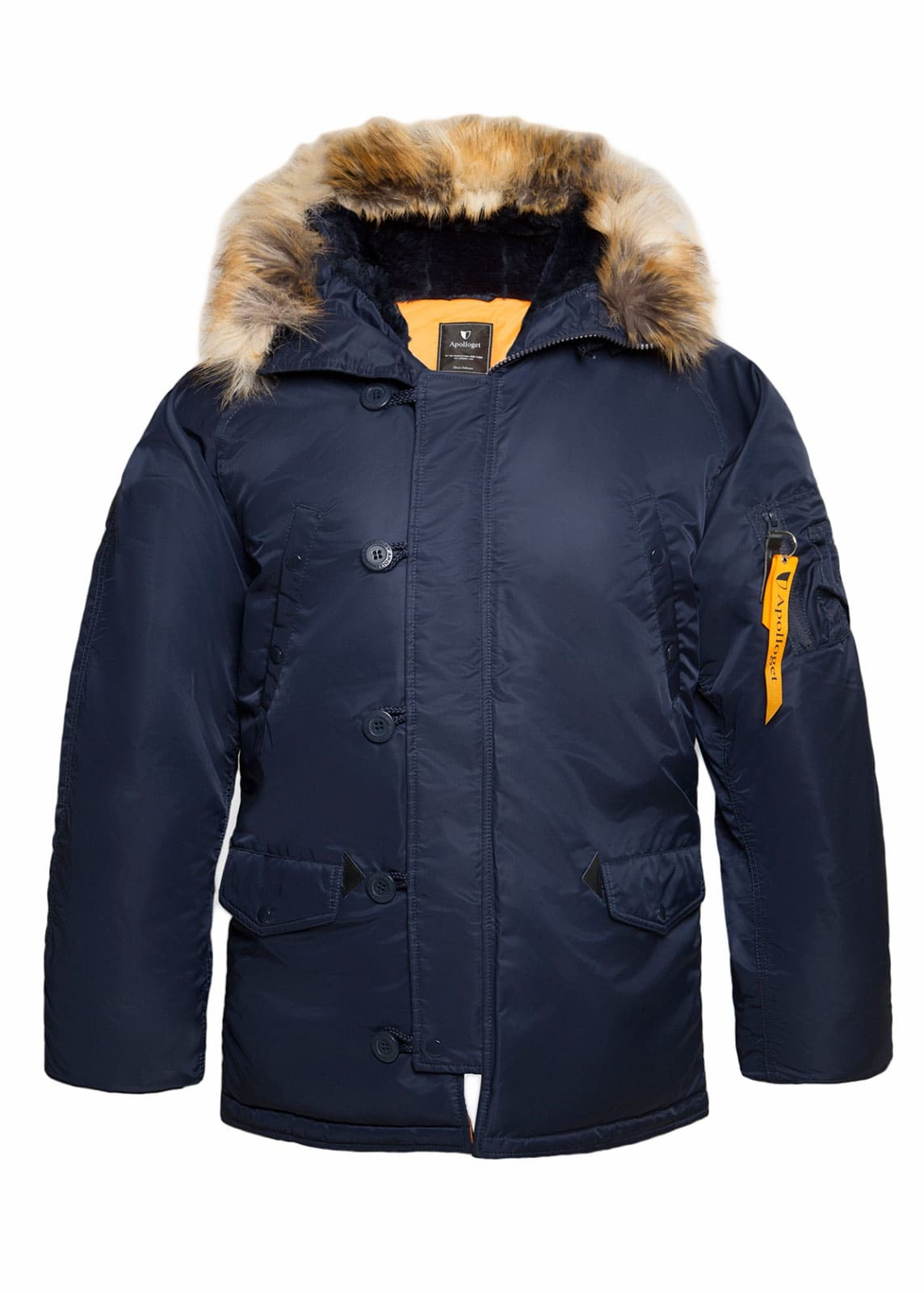 Куртка Аляска  Apolloget N-3B Regular (синяя - r.blue/orange)