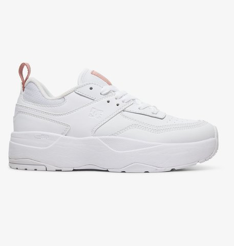 Кеды DC Shoes E.TRIBEKAPLAT J SHOE WWP WHITE/WHITE/PINK