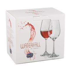 Набор бокалов для вина «Waterfall» 6 шт. 350 мл, фото 2