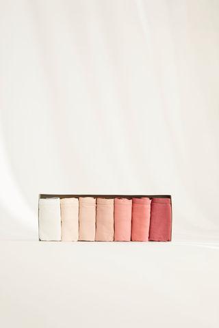 Набір з 7 класичних трусиків з бавовни пастельних відтінків