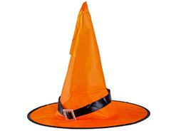 Шляпа ведьмы, оранжевая, светящаяся, 38 см, 1 шт.