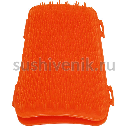 Красная массажная рукавица Бодрость
