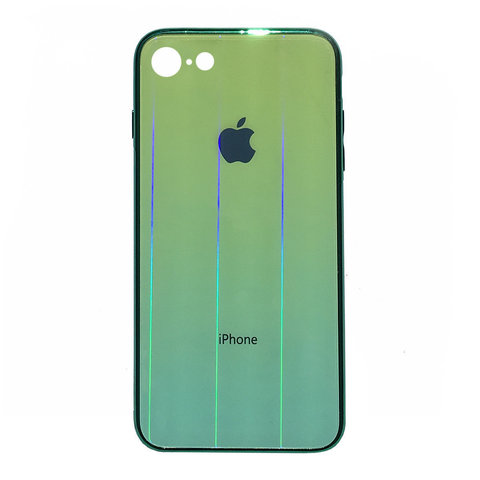 Чехол iPhone 6/6S Plus Glass Shine Case Logo /green/