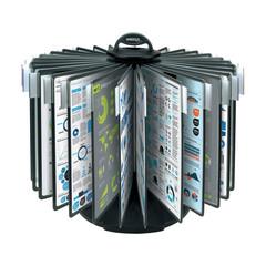 Демосистема настольная Promega office карусель 30 панелей черная