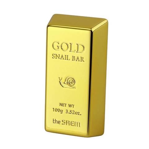 CM Snail Мыло для умывания с экстрактом золота, муцина улитки, оливы 100 гр. Gold Snail Bar