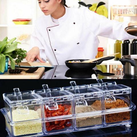 Набор для специй 4 шт Cristal seasoning box