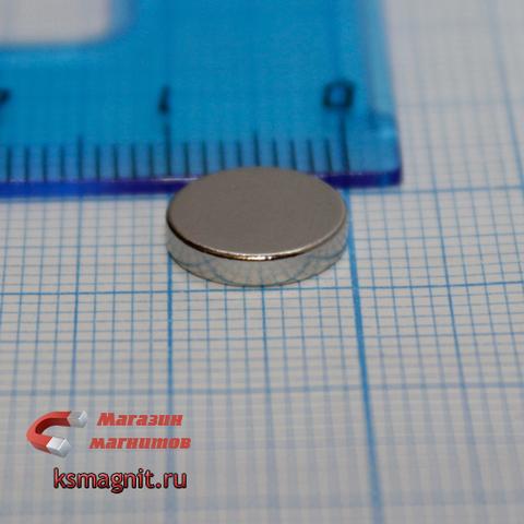Неодимовый магнит диск 10х2 мм