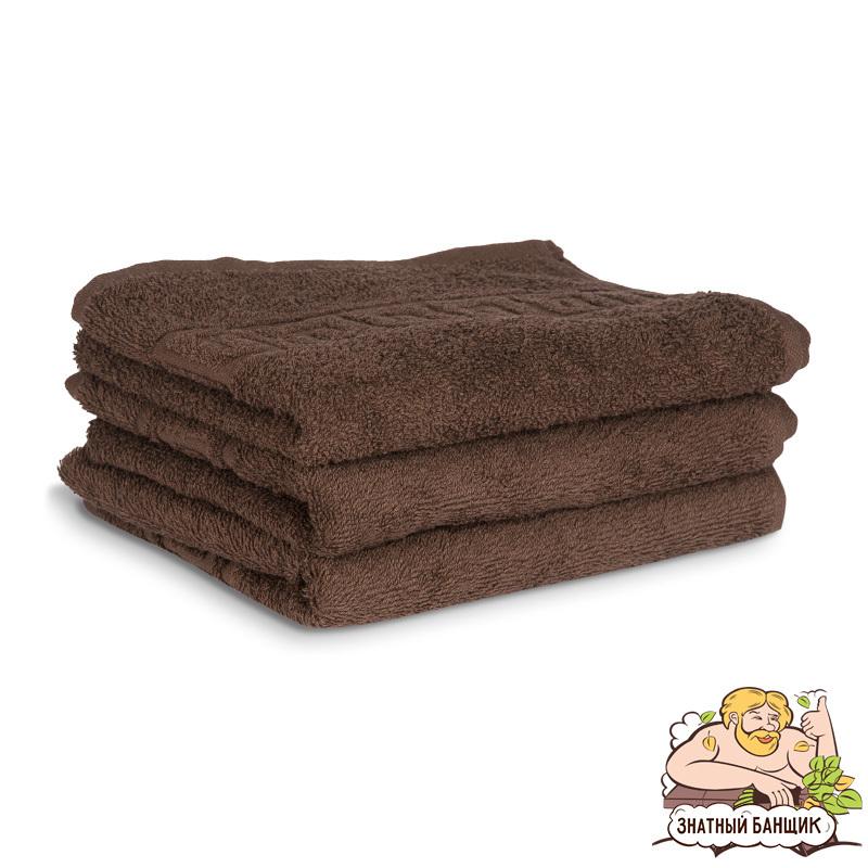 Полотенце махровое 40*70, цвет коричневый