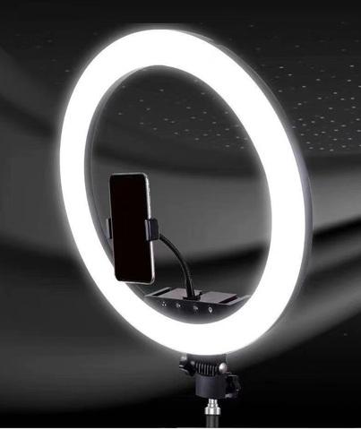 Кольцевая селфи-лампа  держателем для смартфона на штативе, диаметр - 30 см с пультом ДУ