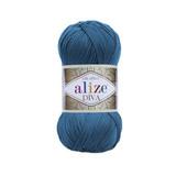 Пряжа Alize Diva 646 темная бирюза