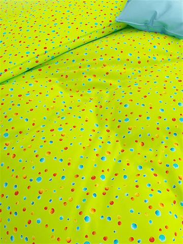 Простынь на резинке  -Акварель- натяжная 180х200х26 см евро