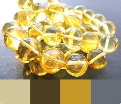 цветовая шпаргалка для лимонного янтарного украшения
