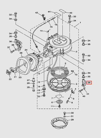 Крепеж стартера для лодочного мотора T40 Sea-PRO (7-39)