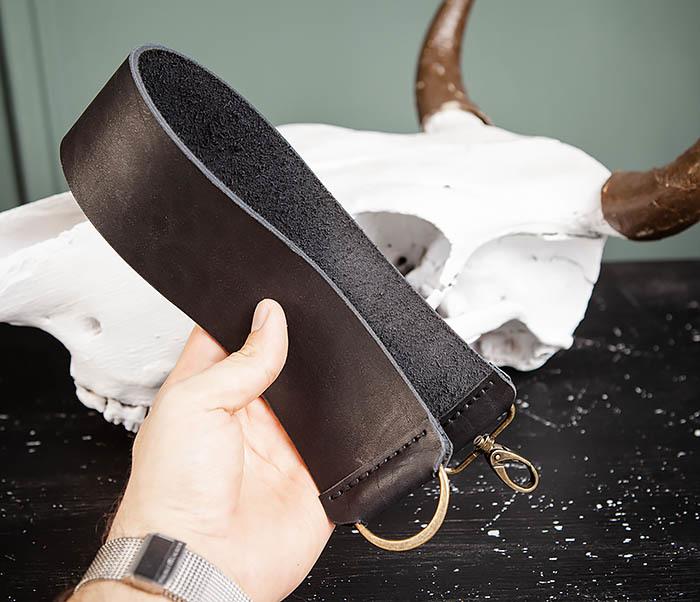 RAZ456-1 Кожаный ремень для правки опасной бритвы фото 06