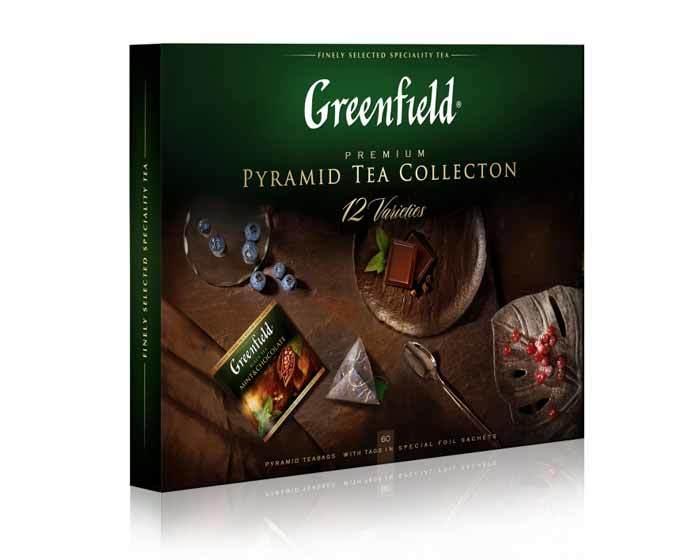 Набор чая из 12 видов в пирамидках Greenfield