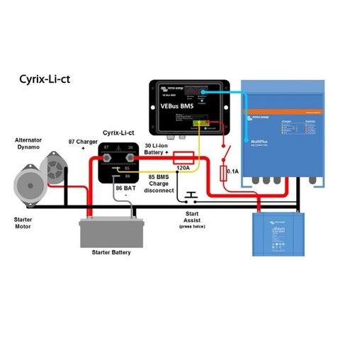 Объединитель батарей Cyrix-Li-Ct 120 A