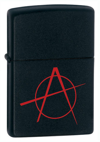 Зажигалка Zippo с покрытием Black Matte, латунь/сталь, чёрная, матовая, 36x12x56 мм