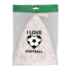 Шапка «I love football»,  войлок 100%