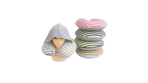 Подушка для шеи с капюшоном