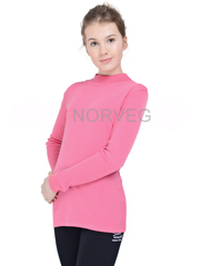 Терморубашка из шерсти мериноса Norveg Soft City Style Pink детская