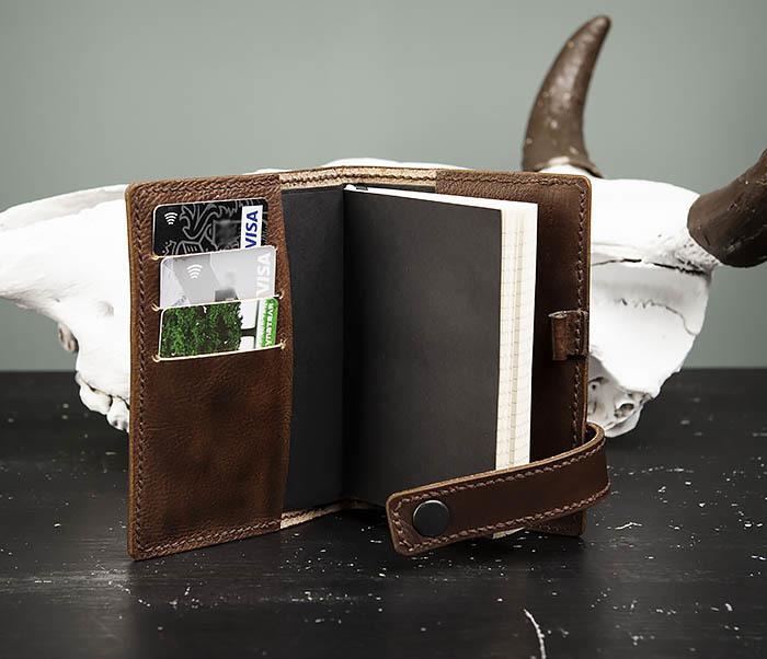 BC205-2 Фирменный кожаный блокнот в клетку (А6) фото 07