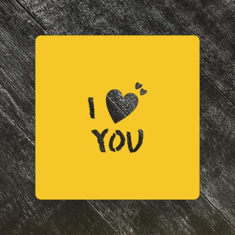 Трафарет любовь №70 I love you