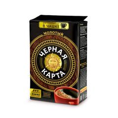 Кофе молотый Черная Карта Тёмная обжарка 250 г (вакуумная упаковка)