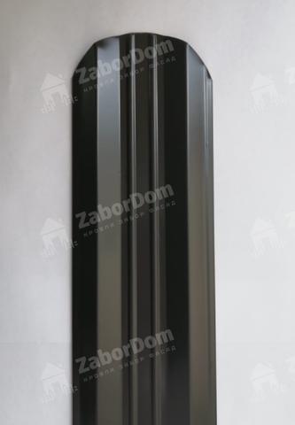 М-образный штакетник металлический 95 мм RAL 8019 0.5 мм