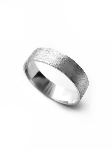 Серебряное сатиновое кольцо 5 мм
