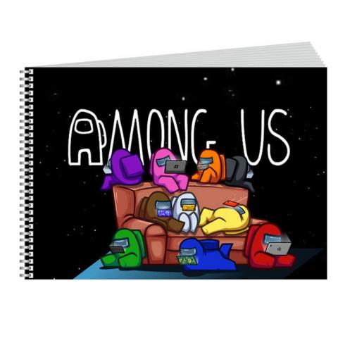 Скетчбук блокнот для рисования Амонг ас (Among us) А5 190х210 мм 48л 80г/м2 №1