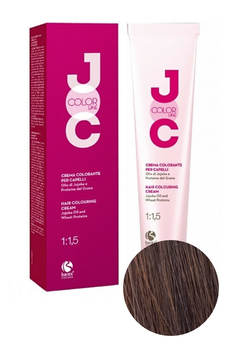 Крем-краска для волос 5.4 светлый каштан медный JOC COLOR, Barex